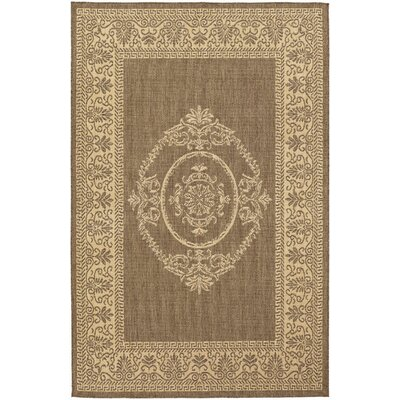 Couristan Recife Natural/Cocoa Antique Medallion Rug