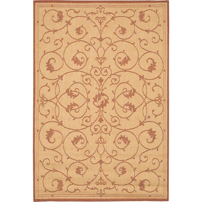 Couristan Recife Veranda Terracotta & Natural Rug