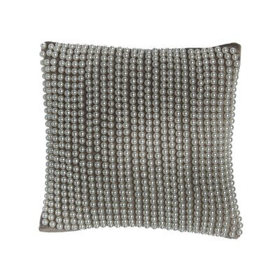 All Over Pearl Velvet Square Pillow