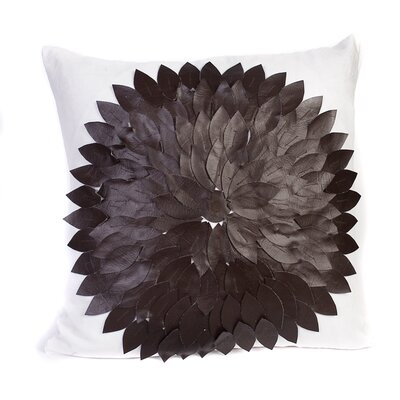 Linen and Leather Accent Pillow