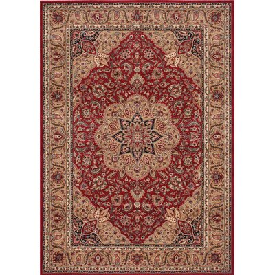 Inspired Design Antique Manor Red Rug