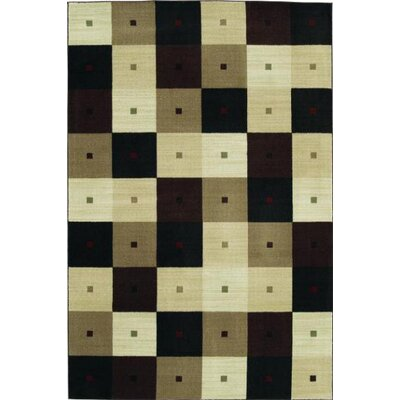 Modern Elements Checkmate Black/Beige Rug
