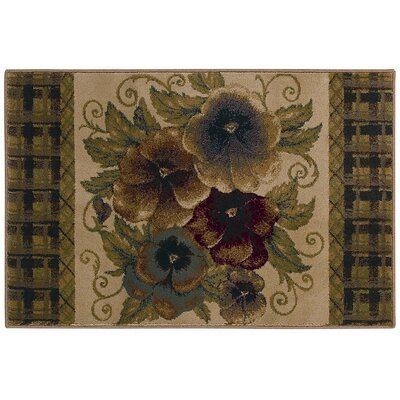 Reflections Pansies Novelty Rug