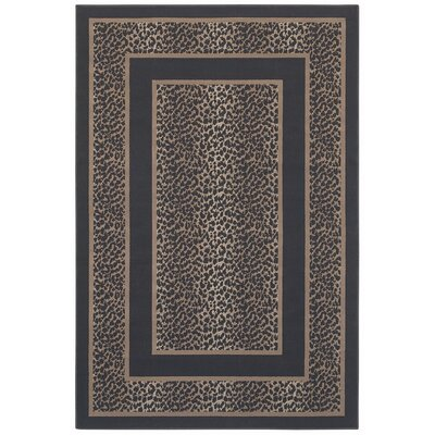 Woven Expressions Gold Safari Skin Chocolate Rug