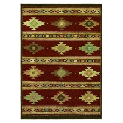 Origins Painted Desert Cayenne Red Rug