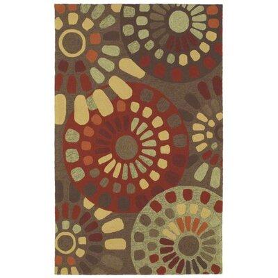 Garden Craft Brown Sun Mosaic Rug