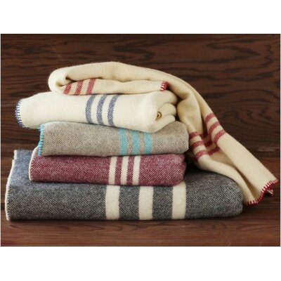Coyuchi Striped Throw Wool Blanket