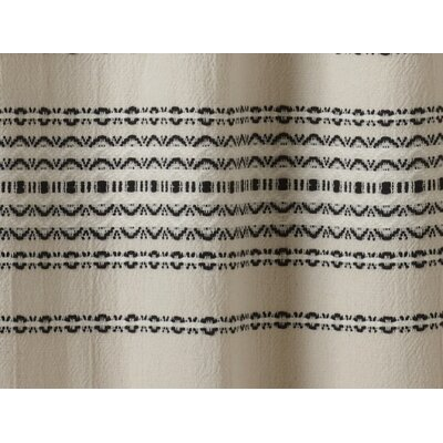 Coyuchi Rippled Stripe Cotton Shower Curtain