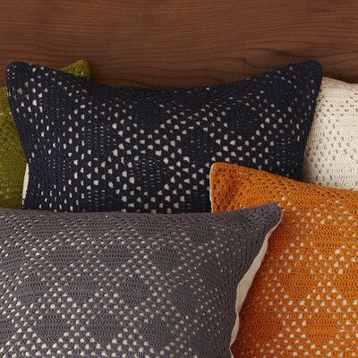 Coyuchi Diamond Crochet Linen Decorative Pillow