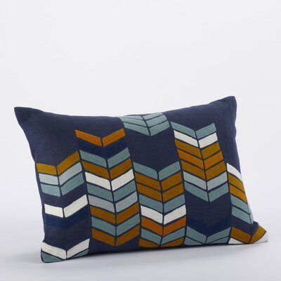 Coyuchi Chevron Stack Linen/Wool Decorative Pillow