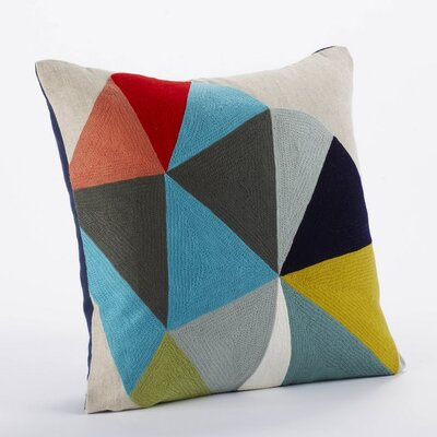 Color Wheel Linen/Wool Decorative Pillow