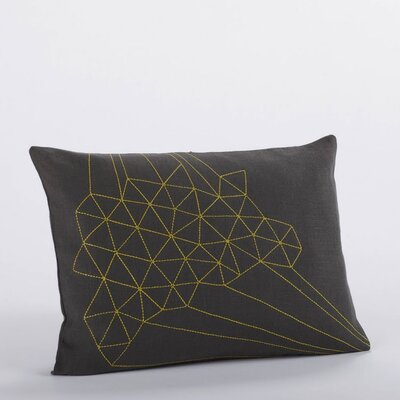 Coyuchi Delicate Triangles Embroidered Linen Decorative Pillow
