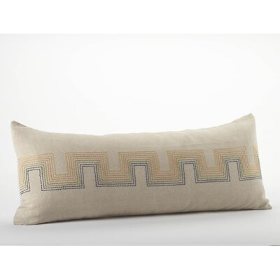 Radiant Roman Key Organic Cotton/Linen Decorative Pillow