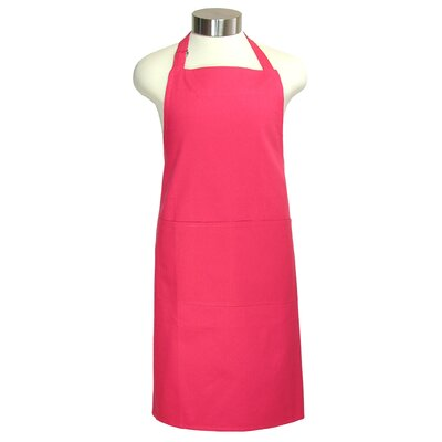 "MU Kitchen MUincotton 35"" Full Apron in Crimson"