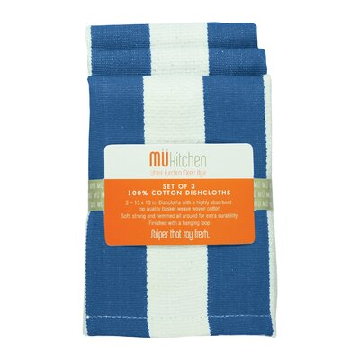 "MU Kitchen 13"" Cotton Stripe Dishcloth"