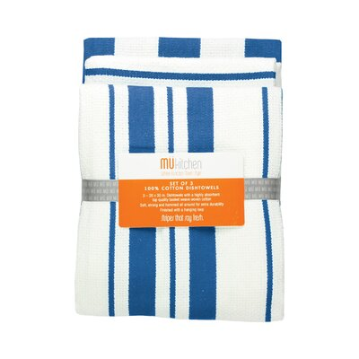 "MU Kitchen 20"" x 30"" Cotton Stripe Dishtowel"