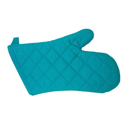 "MU Kitchen MUincotton 13"" Oven Mitt in Sea Blue"
