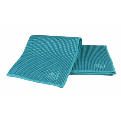 "MU Kitchen MUmodern Waffle 12"" x 12"" Microfiber Dish Cloth in Sea Blue (Set of 3)"