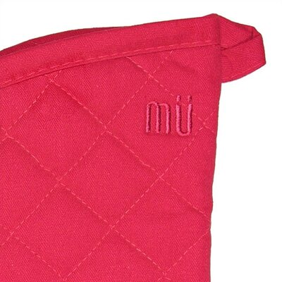 "MU Kitchen MUincotton 13"" Oven Mitt in Crimson"