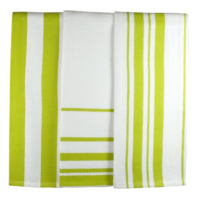MU Kitchen MUincotton Dish Towel in Kiwi Stripe (Set of 3)