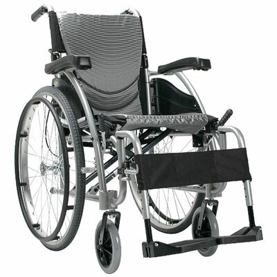 Karman Healthcare Ergonomic Ultra Lightweight Wheelchair with Quick Release Wheels