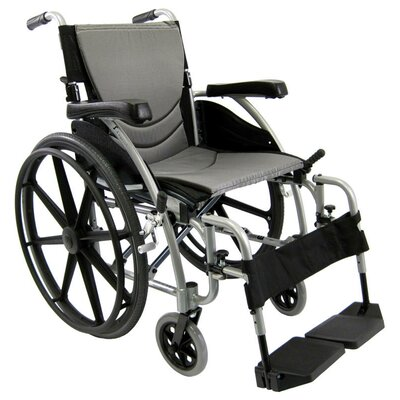 Ergonomic Lightweight Wheelchair with Rear Mag Wheels