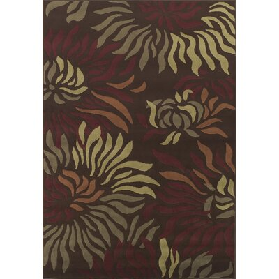 Dalyn Rug Co. Carlisle Chocolate Floral Rug