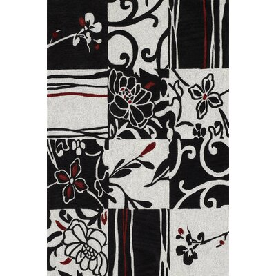 Studio Black Patchwork Rug