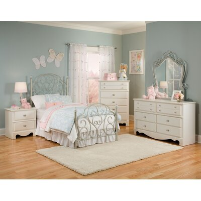 Standard Furniture Spring Rose Metal Bed