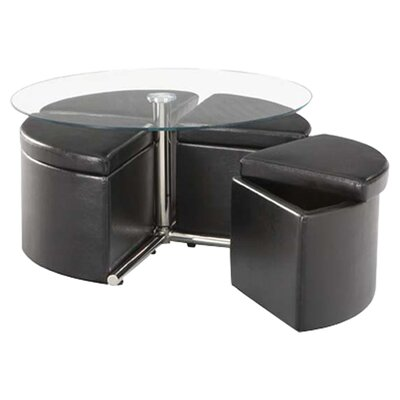 Standard Furniture Cosmos Coffee Table with Ottoman (Set of 4)