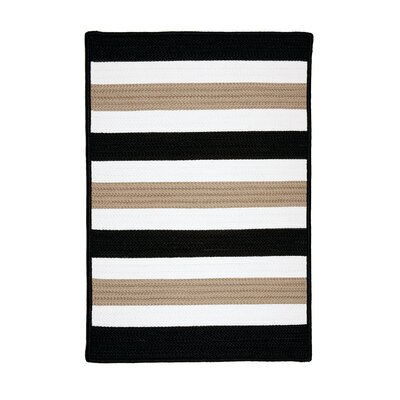 Colonial Mills Portico Sharp Black Indoor/Outdoor Rug