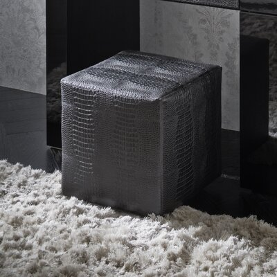 Rossetto USA Diamond Bedroom Leather Ottoman
