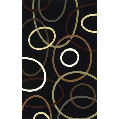 Momeni Elements Black Rug