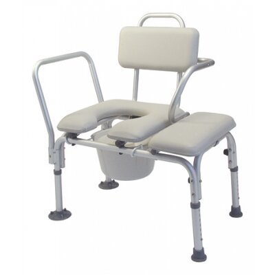 Lumex Commode Transfer Tub Bench with Tub Clamp and Swing Arm