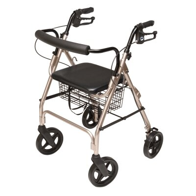 Lumex Walkabout Four-Wheel Contour Deluxe Rolling Walker