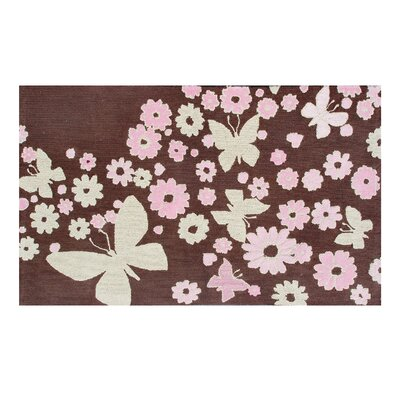 Wildon Home ® Sparkle Flies Brown Kids Rug