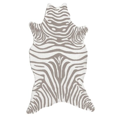 The Rug Market Resort Grey Zebra Shaped Rug