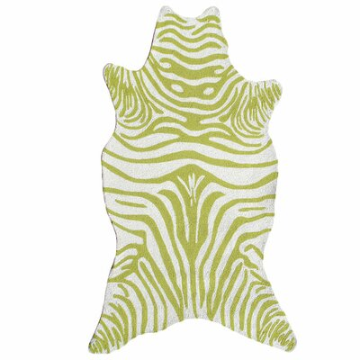 The Rug Market Resort Green Zebra Shaped Rug