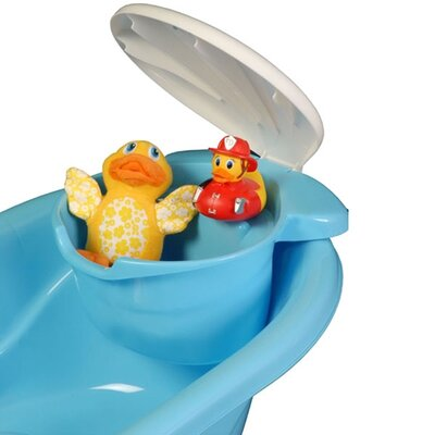 Mom Innovations The Potty Scotty  2 in 1 Bath Tub with Toy Organizer in Blue
