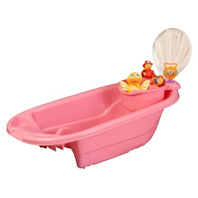 Mom Innovations The Potty Patty 2 in 1 Bath Tub with Toy Organizer in Pink