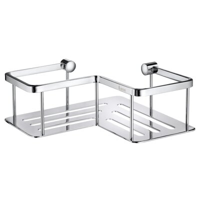 "Smedbo Sideline 2.75"" Corner Soap Basket in Polished Chrome"