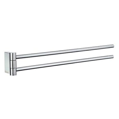 "Smedbo Air 2.5"" Swing Arm Towel Bar in Polished Chrome"
