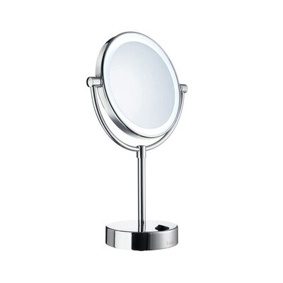 "Smedbo Outline 13.62"" x 7.12"" Mirror with LED Technology in Polished Chrome"
