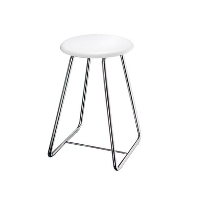 "Smedbo Outline 22.25"" Shower Chair with Werzalite White Seat in Polished Stainless Steel"