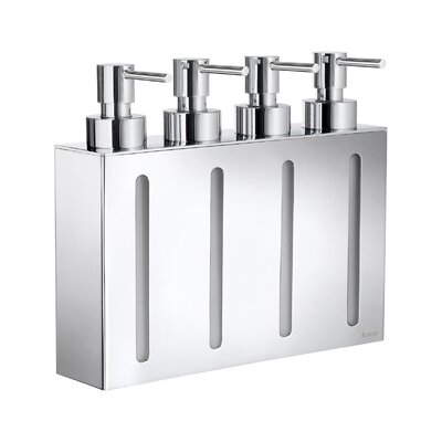 Smedbo Outline Four Containers Soap and Lotion Dispenser in Polished Chrome