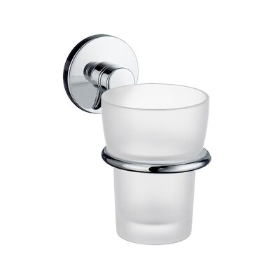 Smedbo Studio Holder with Frosted Glass Tumbler