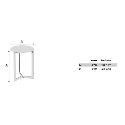 "Smedbo Outline 18.5"" Shower Chair with Werzalite Black Seat in Polished Stainless Steel"
