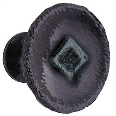 "Smedbo Beslagsboden 1.125"" Iron Knob in Wrought Iron"