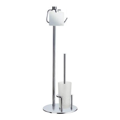 Smedbo Outline Toilet Roll Holder with Lid and Toilet Brush