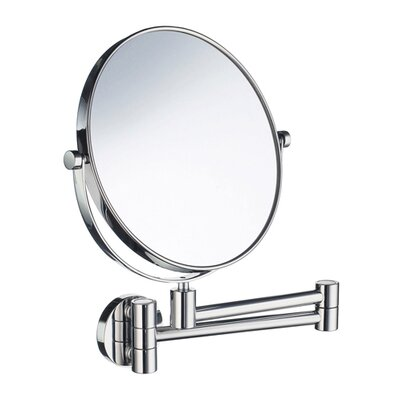 Smedbo Outline Three-Time Magnifying Shaving / Makeup Mirror with Swivel Arm in Polished Chrome